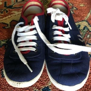 Fred Perry Red|White|Blue Boat Shoes